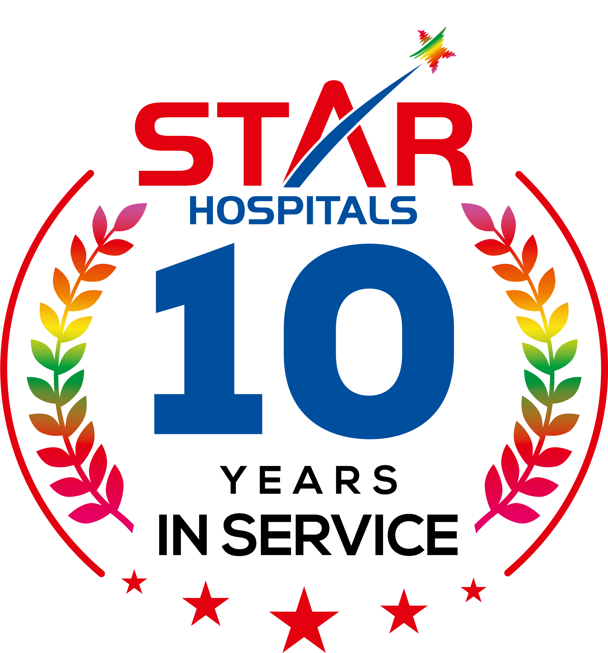 Star 10 Years Logo
